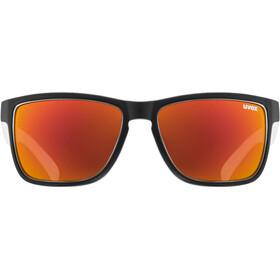 UVEX LGL 39 Gafas, black matt white/mirror red